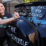 """Honk if you Love Squid"" MCB's Sarah McAnulty and her Squidmobile Get Noticed"